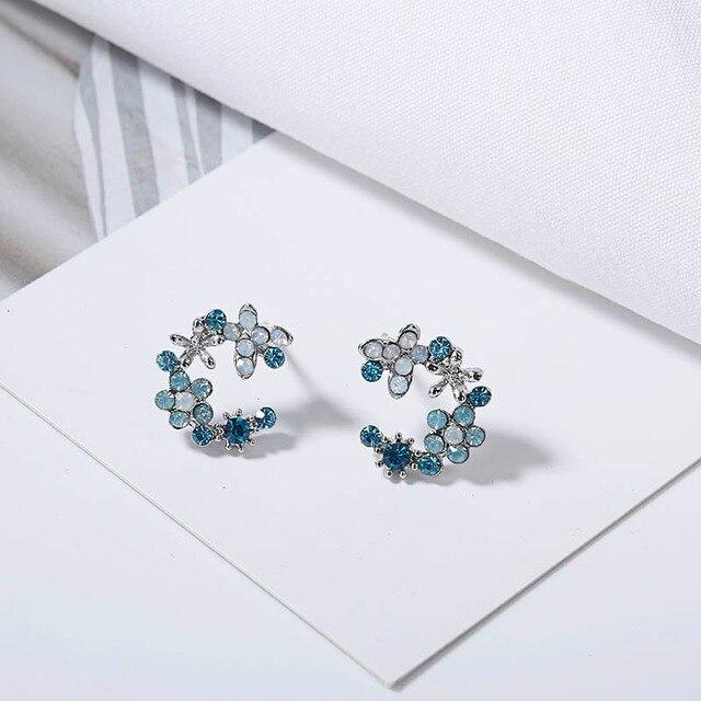 Cute Korean Personality Small Flower Stud Earrings  1