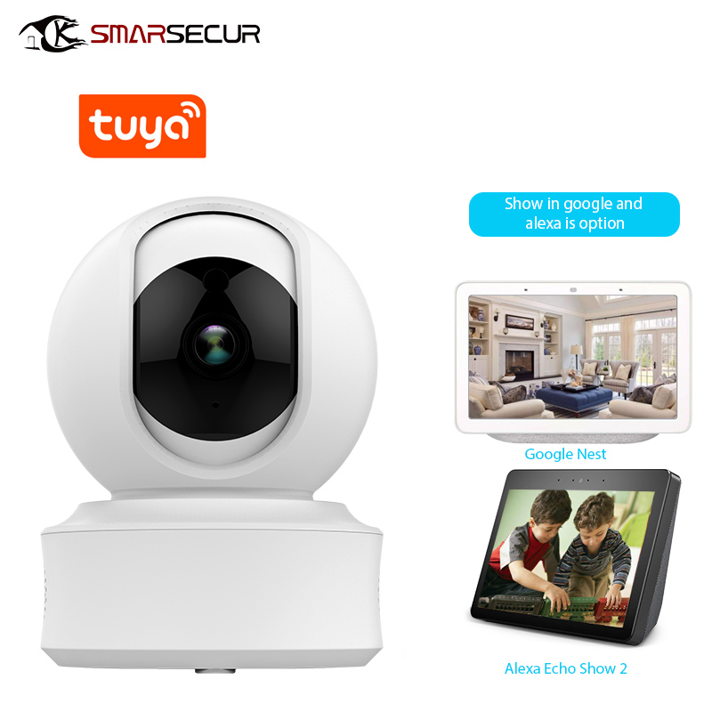 US $38 0 |SMARSECUR WiFi Security Camera 1080P Home Security HD CCTV Camera  Tuya Smart life Auto tracking-in Surveillance Cameras from Security &