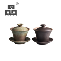 TANGPIN tigelas de cerâmica bule gaiwan xícara de chá em cerâmica kung fu chinês jogo de chá 135 ml|Jogos de chá| |  -