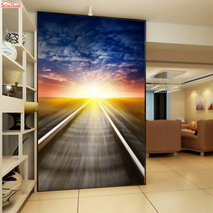 ShineHome-Large Custom Mural Abstract City Wallpaper Wall Landscape for 3 d  Living Room Sunset Sky Walls Paper Mural Rolls Size