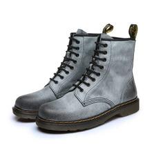 Осенне-зимняя обувь новые женские ботинки «мартенс» кожа Британский ретро обувь на плоской подошве ботинки для операций в пустыне Пеший Туризм обувь