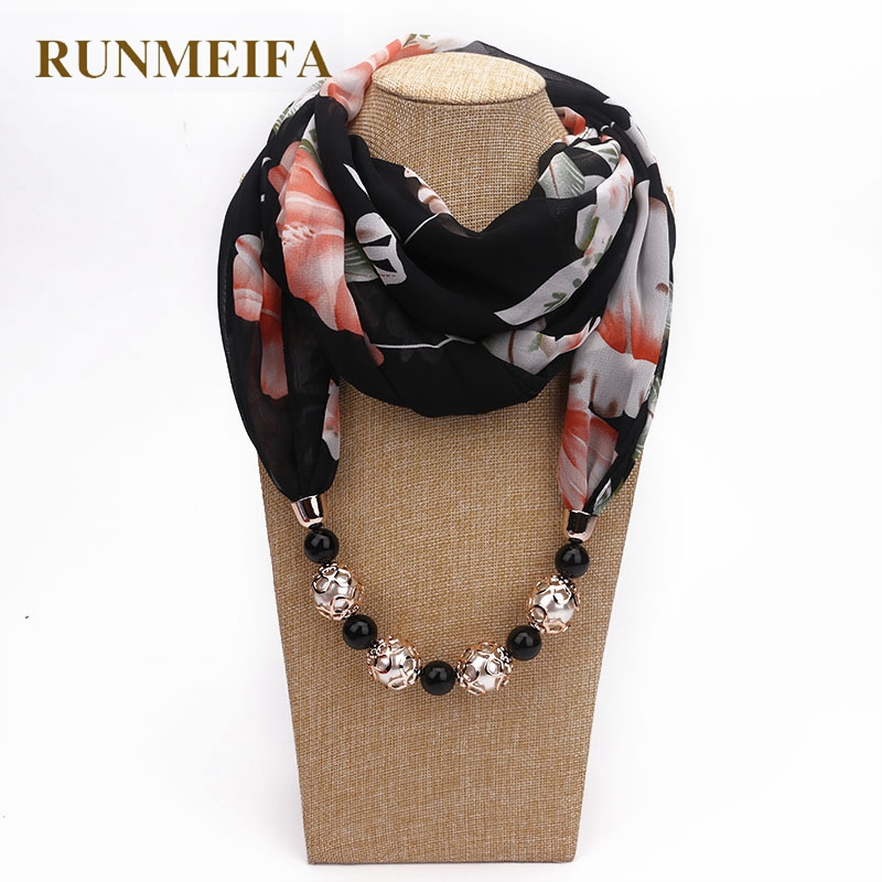 Runmeifa new pendant scarf necklace bohemia necklaces for women runmeifa new pendant scarf necklace bohemia necklaces for women chiffon scarves pendant jewelry wrap foulard female accessories in scarves from womens aloadofball Choice Image