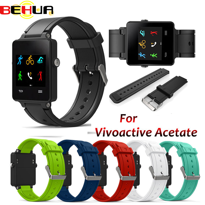 New Replacement Wristband Silicone Bracelet Watch Strap Band For Garmin Vivoactive Acetate Sports Watch Watchbands Correa Reloj