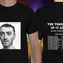 5924b5f12a44 phiking Sam Smith Great Tour Dates 2018 Unisex Black T Shirt S-3XL Short  Sleeves