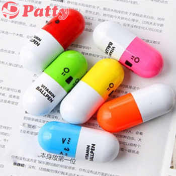 120 pcs/Lot Wholesale vitamin ballpoint pen ballpen pens material escolar canetas school supplies Patty stationery F205