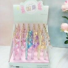 купить 36pcs/1lot Kawaii Candy Pendant Press Mechanical Pencils School Office Supply Student Stationery Kids Gift Automatic Pencil дешево