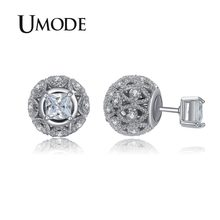 c430aff648a6 UMODE Retro hueco bola pendiente de doble cara Stud Piercing pendientes  para mujeres Vintage joyas Día de la Madre Regalos fiest.
