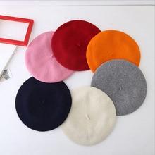 2016 winter spring autumn gray vintage fashion 100% Wool women beret hat pumpkin Painter cap felt womens has 14 color