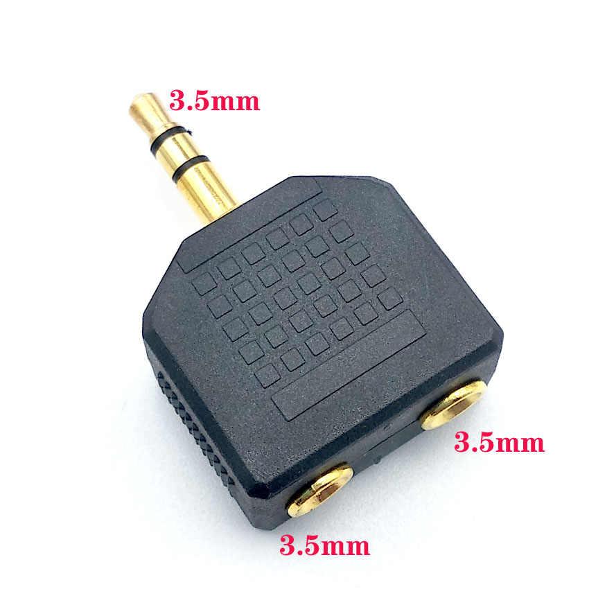 2 sztuk 3.5mm Jack Aux Audio kabel 1 męski na 2 żeńskie rozdzielacz do słuchawek Y przedłużacz kabla dla samochodów tablet z funkcją telefonu kabel Audio