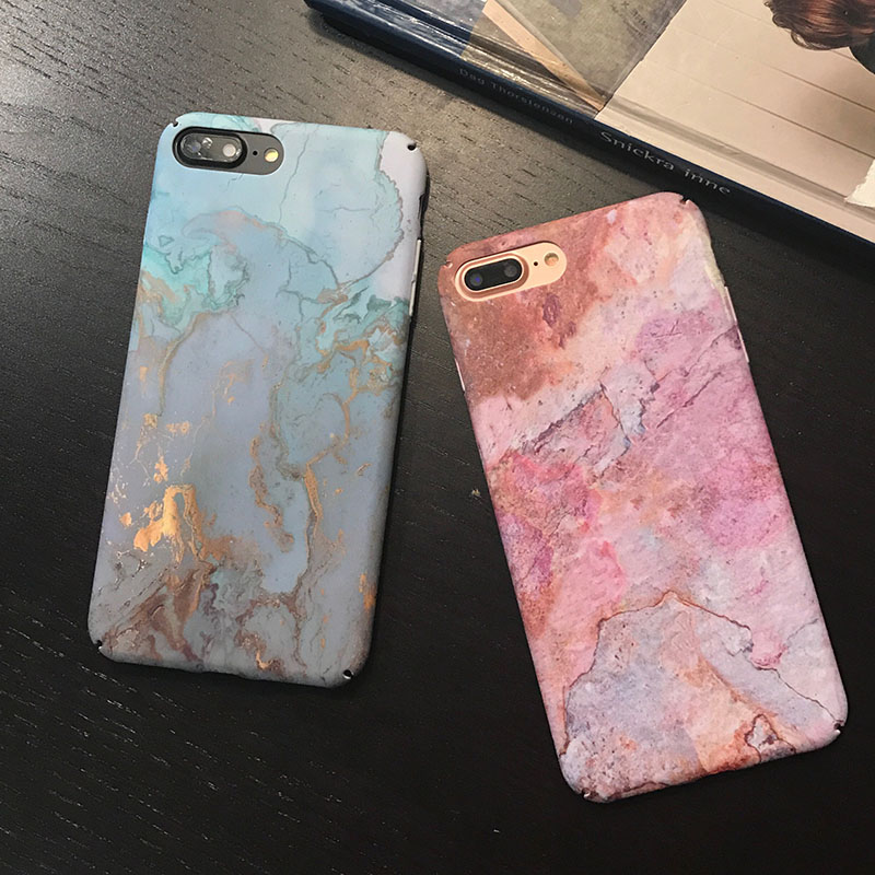 , Luxury Marble Phone Case For iPhone 7 Case For iPhone X 7 6 6S 8 Plus 6 S Case Cover XR XS MXA Coque Scrub Hard PC Cover Capa
