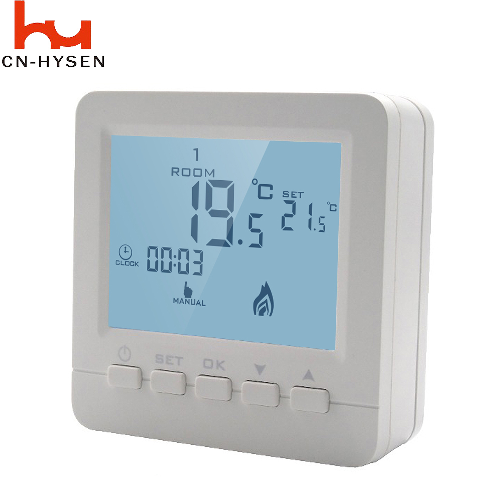 Heating Thermostat Us 23 22 Hysen Wired Digital Room Thermostat For Gas Boiler Heating Thermostat 5a White Backlight Programmable Boiler Thermoregulator In Temperature