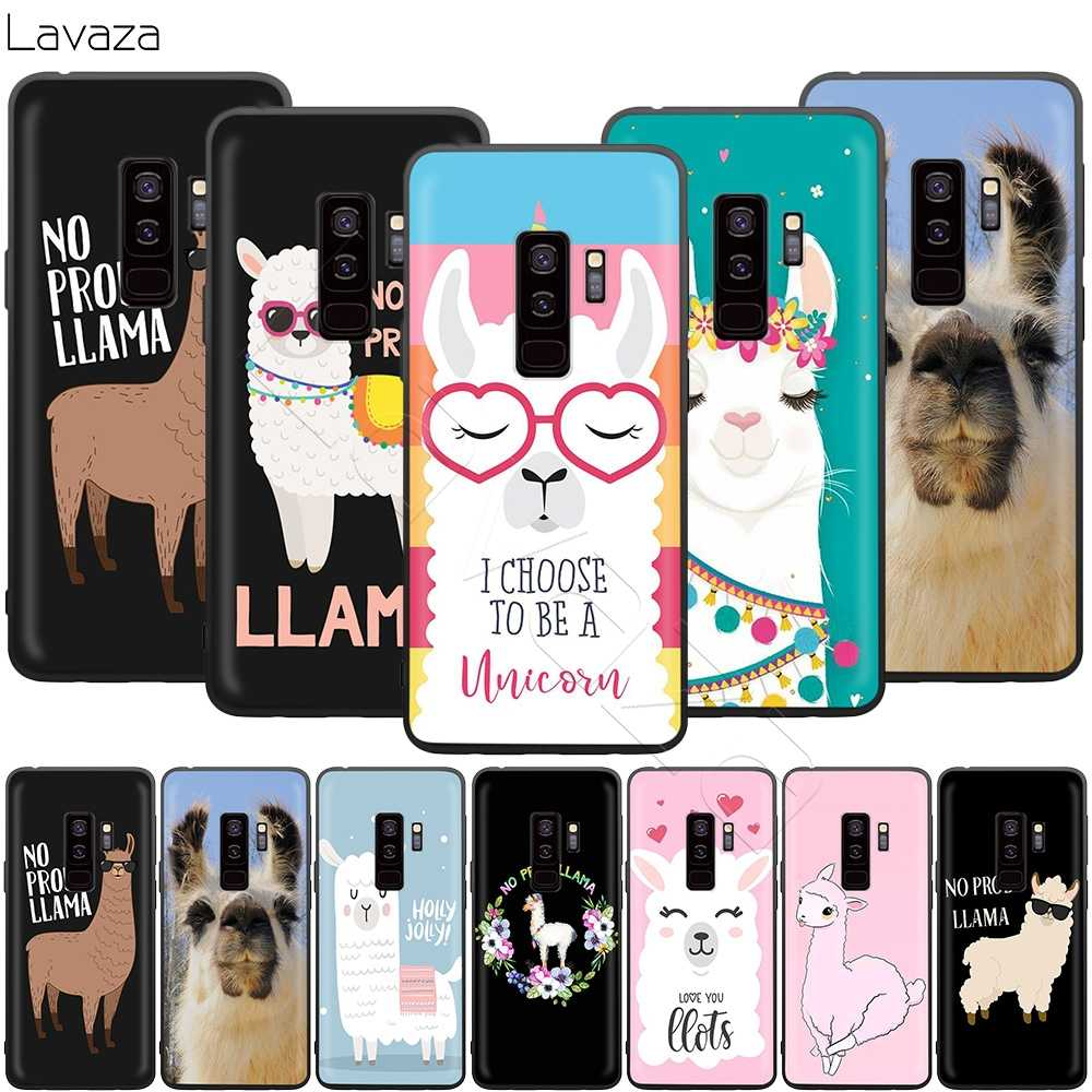 Lavaza No Prob Lama Llama Alpacas Case for Samsung Galaxy S10 S9 S8 S7 S6 Plus Note 9 8 M30 M20 M10 Edge
