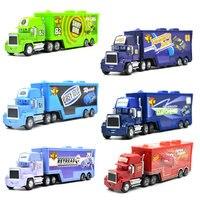 Disney Pixar Cars 3 9 estilos Mack Truck McQueen Uncle 1:55 Diecast Metal aleación y plástico Modle juguetes regalos para coche para niños