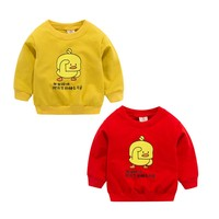 2019 New Arrival Baby Boys Girls Sweatshirts Spring Autumn Children Duckling Red Long Sleeves Sweater Kids T shirt Clothes