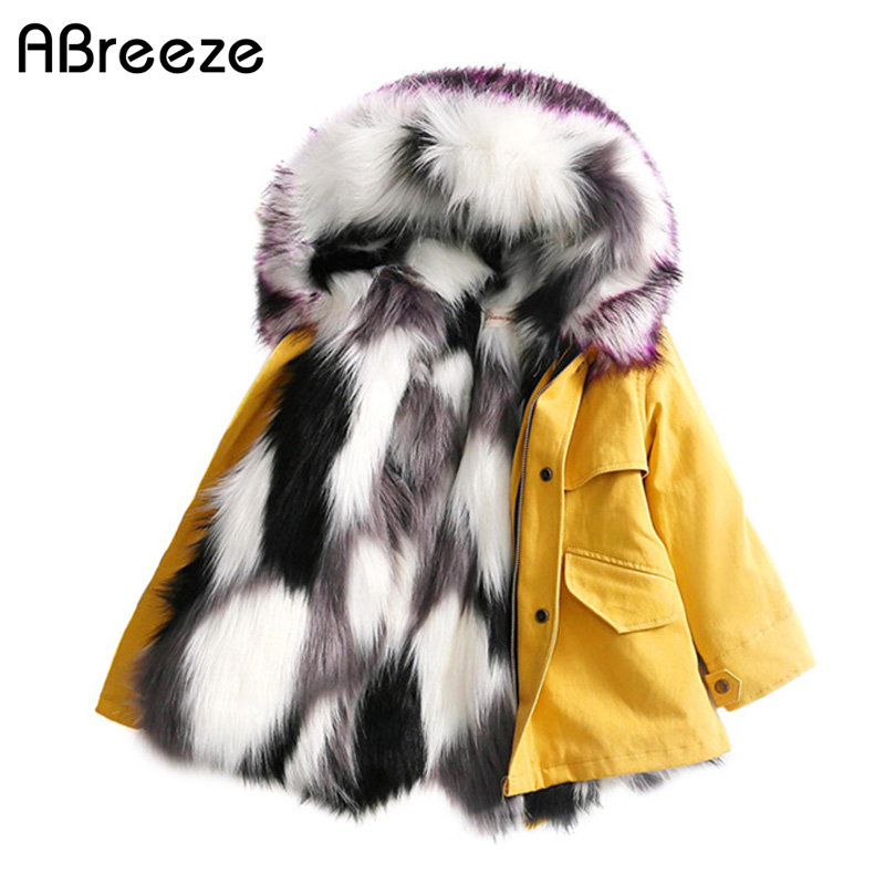 New winter 2-10T baby children fur trench fashion black white faux fur outerwear for girls full warm hooded coats kids girlsNew winter 2-10T baby children fur trench fashion black white faux fur outerwear for girls full warm hooded coats kids girls