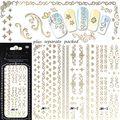 2015 NEW 20PCS/lot 3D JM01-12g Manicure 3D sticker Manicure special 3D nail stickers gold pattern of love