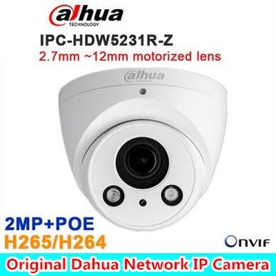 DAHUA 2.7mm ~12mm motorized lens 2MP WDR IR Eyeball Network Camera IPC-HDW5231R-Z ,free shipping dahua 2 7mm 12mm motorized lens 2mp wdr ir eyeball network camera ipc hdw5231r z free dhl shipping