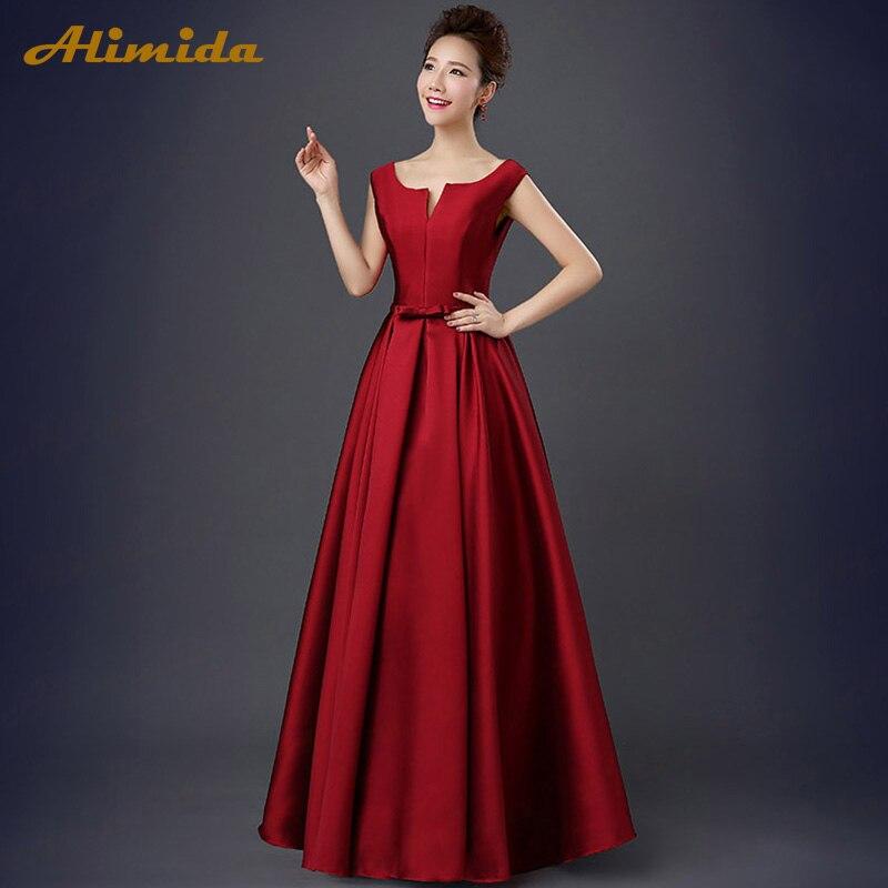 ALIMIDA Robe De soirée 2018 robes de soirée élégantes étage Long col en v dos Corset Robe De soirée formelle a-ligne vestidos de festa - 4