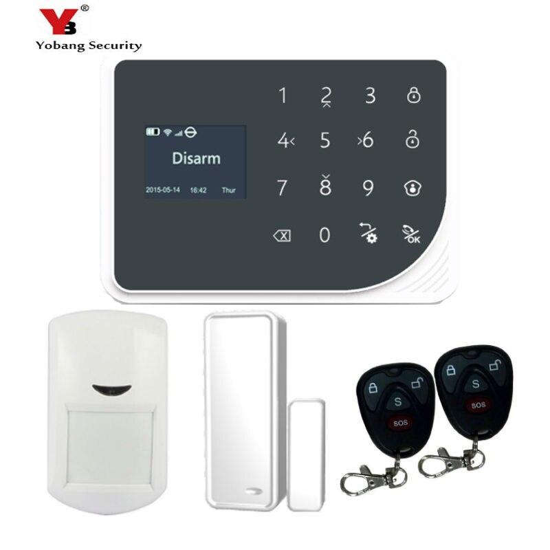 YoBang Security WiFi GSM GPRS Wireless Security Alarm System Door Window PIR Mobile Sensor Android IOS Application Control.