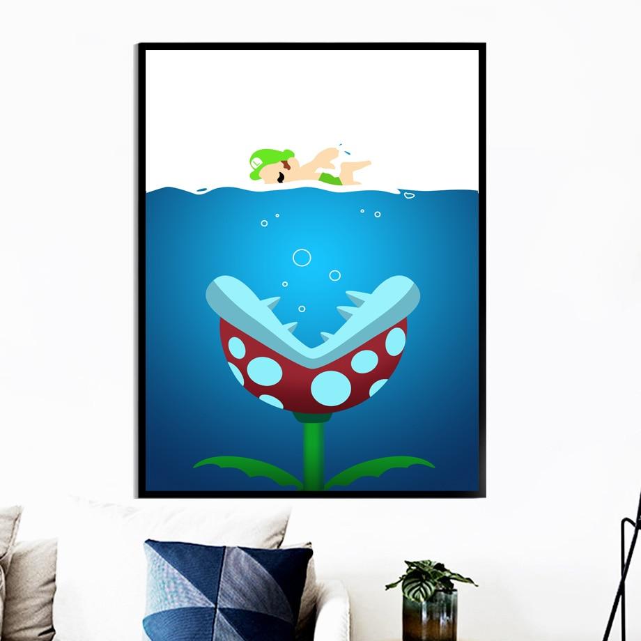 Super Promo 8309 Super Mario Bros Luigi Game Poster Wall Art