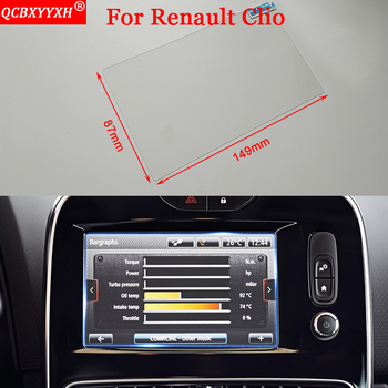 QCBXYYXH Car-styling Stickers GPS Navigation Screen Glass Protective Film Accessories Control of LCD Screen For Renault Clio RS image