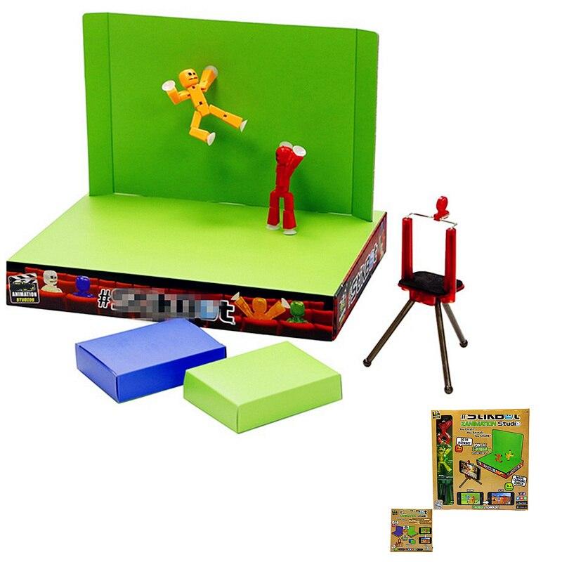 Movie Diy Studio Z Animation Screen Stik Robot Sucker Doll Back To School Gift Toys For Children Kids