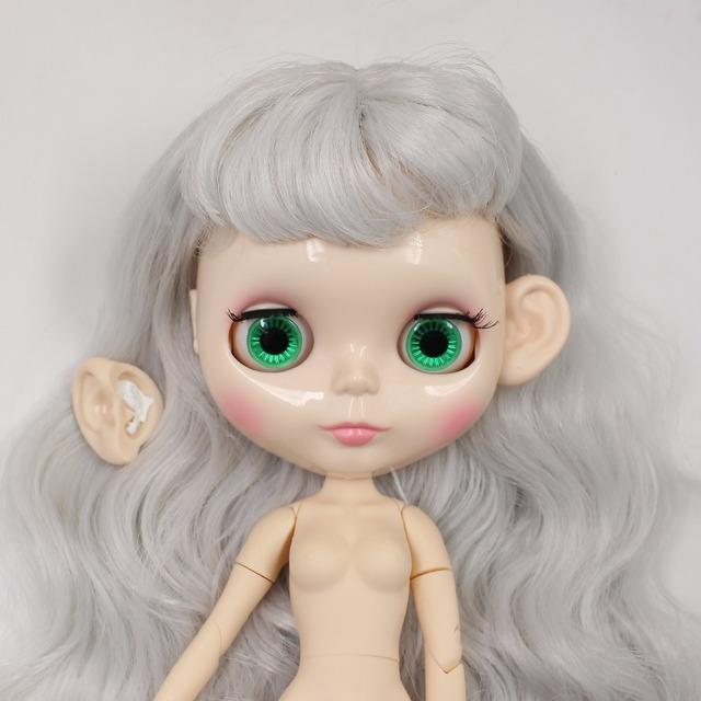 Elfie Neo Blythe Gray Hair Joint Body Free Gift