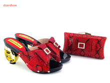doershowHigh quality best Women African Shoes and Bag To Match For Parties High Quality Italian Ladies Shoes and Bag Set  !UH1-2