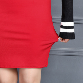 2019 New Women Skirt Work Fashion Stretch Slim High Waist Pencil Skirt Bodycon Sexy Mini Office Work Skirt Free Shipping 5