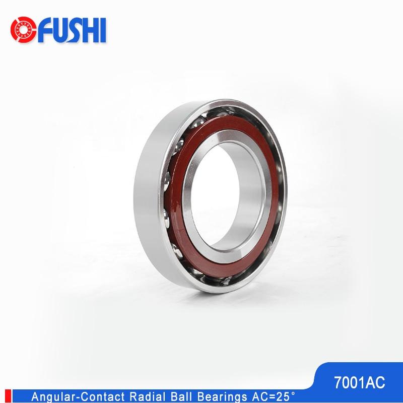 7001 AC Angular Contact Bearing 12*28*8 Mm 2Pcs Spindle Bearings CNC P0 ABEC-1 25 Contact Angle 7001AC Ball Bearings