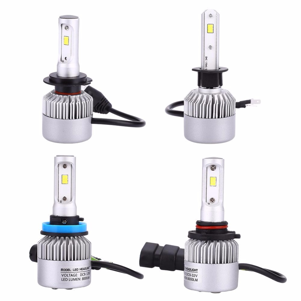 2Pcs/Set Auto Car Light S2 CSP 210W LED Car Headlight Front H1/H7/H11/9006 21000LM Silver Replacement Automobiles Part Lamp Bulb