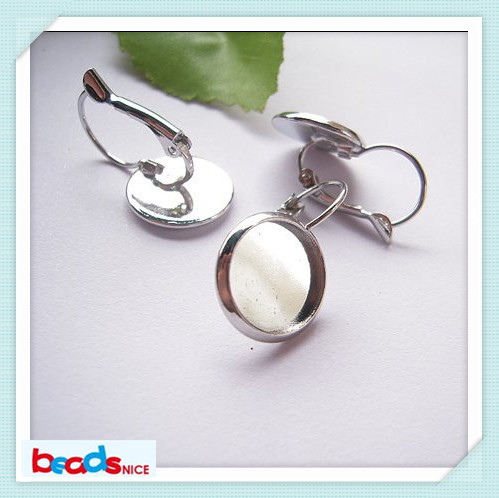 Beadsnice ID6336 French Lever Back diy earing earring bezels earring setting cabochon with 18x32mm earring blanks