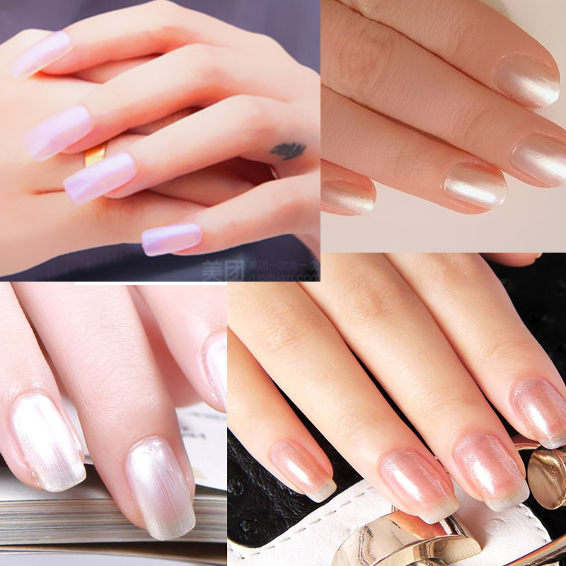 Yinikiz Shell UV Nail Gel Polish Manicure Mermaid Style Ivory White ...