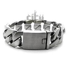 Nueva joyería fresca accesorios para hombres pulseras de acero inoxidable delicado estilo de dibujo de alambre Rock Vintage cadena de la serpiente MCE226L