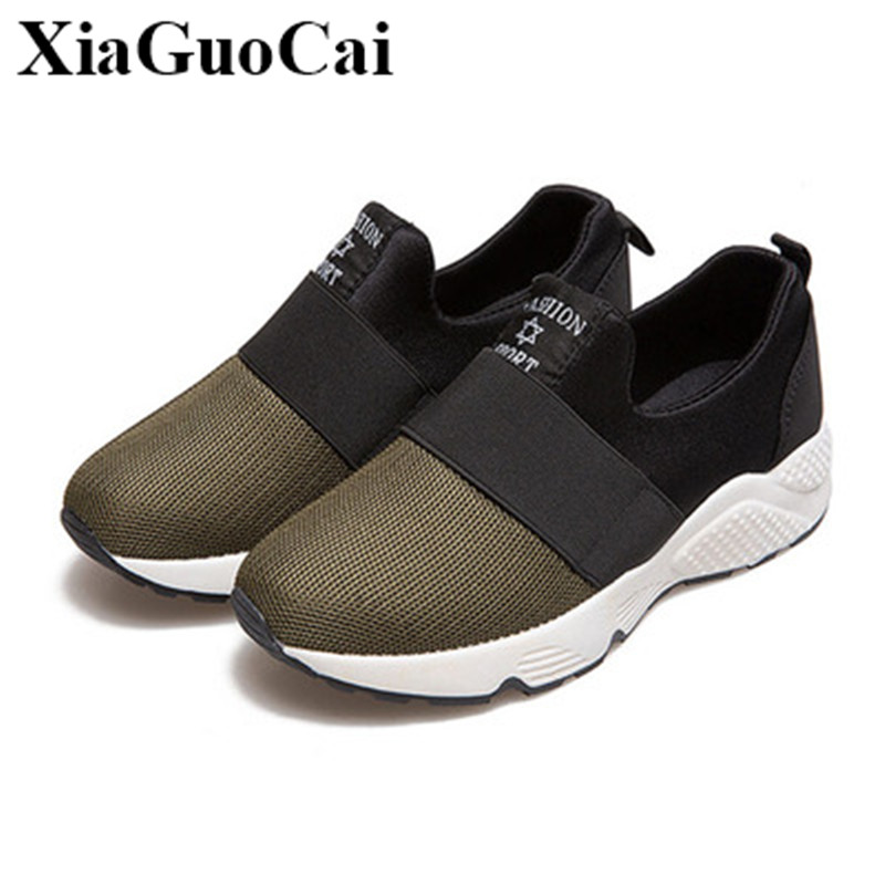Summer New Women's Shoes Fashion Mixed Color Breathable Mesh Non-slip Flats Shoes Elastic Slip-on Casual Shoes H324 35 new women shoes breathable fashion ladies flats non slip summer wedges shoes for women aa10218