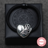 S925 Sterling Silver Headband Personalized Retro Models Hip Hop Punk Style Heart Shaped Hair Ornaments Send
