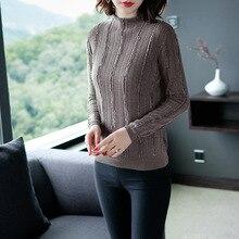 Solid elastic knit long sleeve sweater shirts 2018 new stand neck tassel women autumn basic sweater недорго, оригинальная цена
