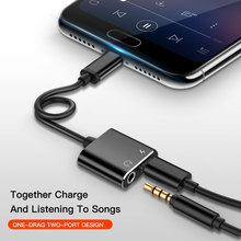 Jack-Adapter Charging-Splitter Audio-Cable-Converter Usb-C Type-C Huawei Xiaomi To 2-In-1