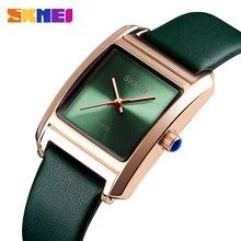 SKMEI Causal Women's Leather Watch Fashion Waterproof Square Wristwatchs Elegante Ladies Vintage Quartz Watches Relogio Feminino skmei белый