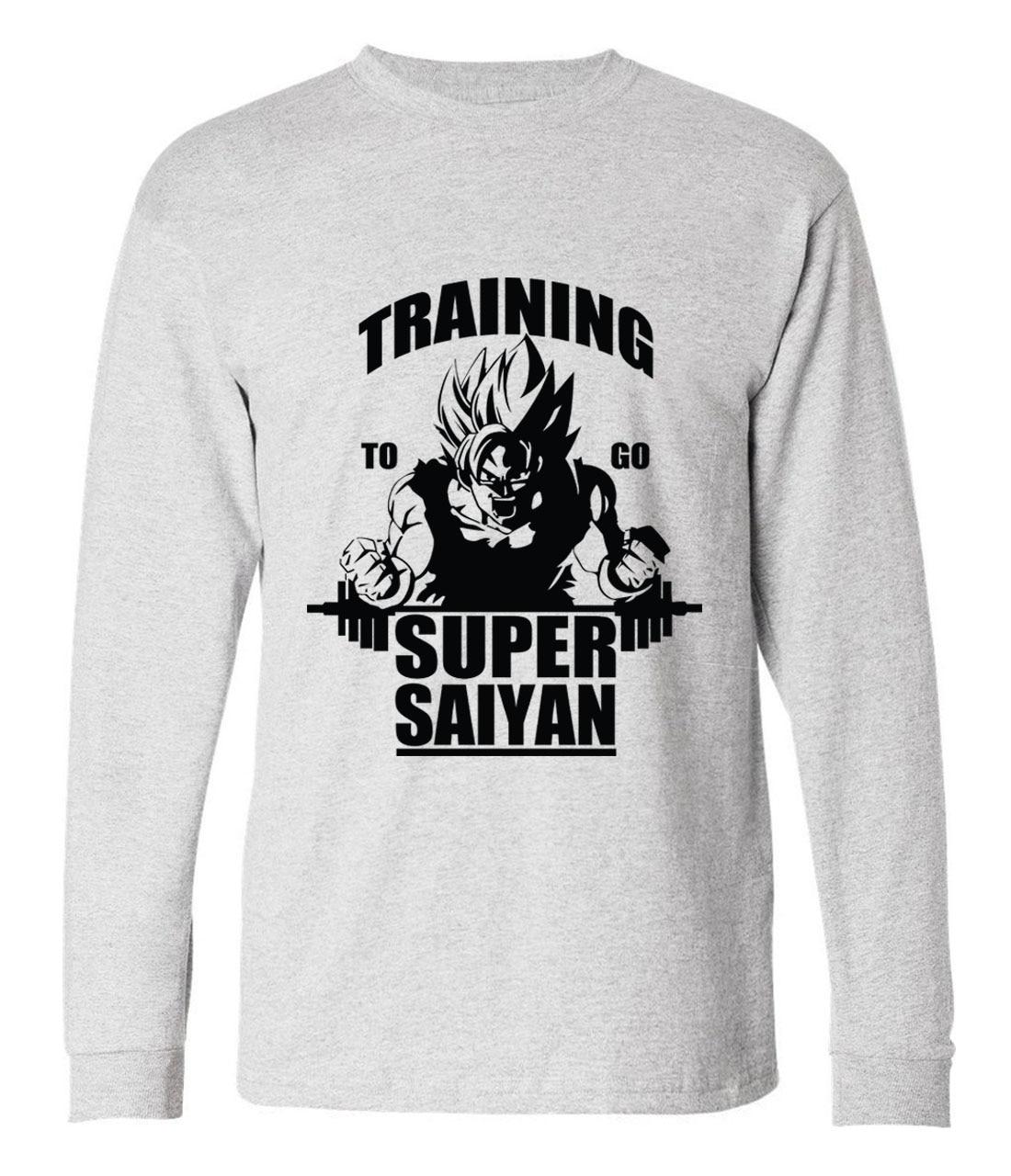 Fashion Dragon Ball Z Super Saiyan long sleeve t shirt men 2017 autumn novelty hip hop