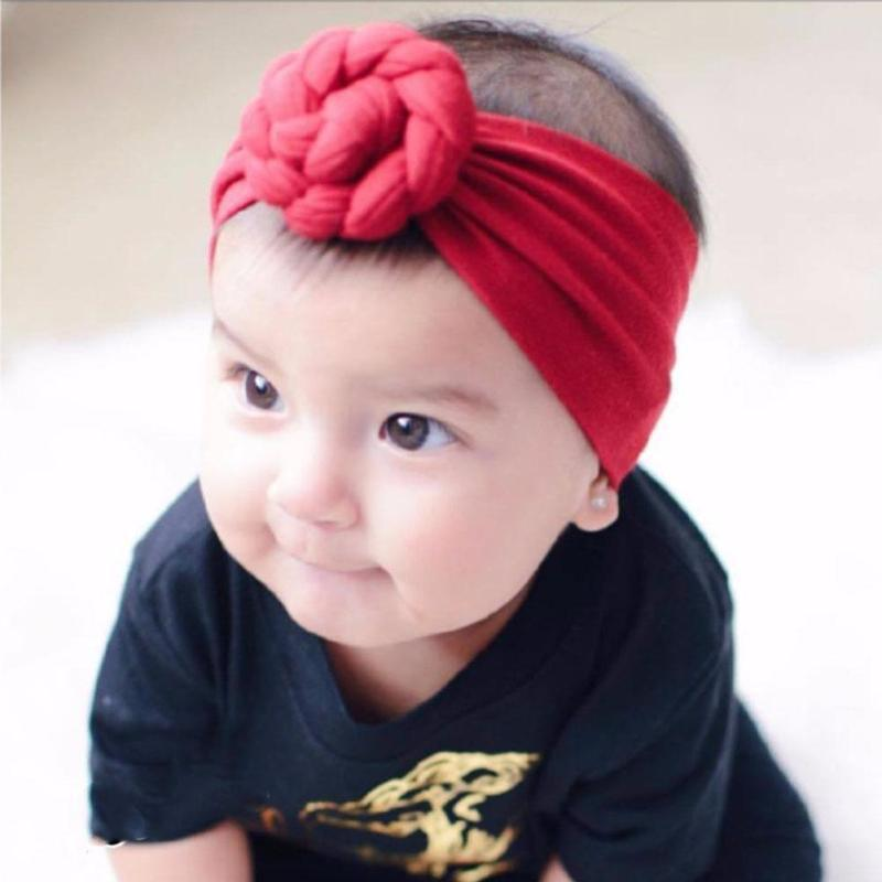 Fashion baby headwear Soft cotton infant newborn Headband Girls Hair Accessories Kid girls Turban Hairband photo props Gift D4 цена