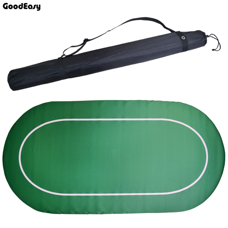 NO LOGO NO Printing 180*90cm Texas Holdem Baccarat Poker Chip Table Mat Oval Rubber Poker Gambing Mat Green Table ClothNO LOGO NO Printing 180*90cm Texas Holdem Baccarat Poker Chip Table Mat Oval Rubber Poker Gambing Mat Green Table Cloth