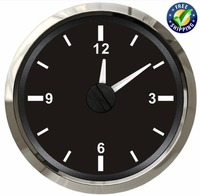 52mm Pointer Type Clock Gauges Modification 12Hours Day Clock Meters 12v/24v Waterproof Hourmeters for Car Truck Boat