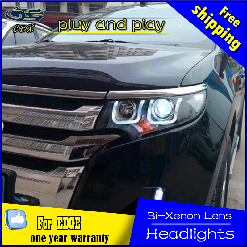 CDX Car Styling for Ford Edge Headlights 2012-2014 New Edge LED Headlight DRL Bi Xenon Lens High Low Beam Parking Fog Lamp