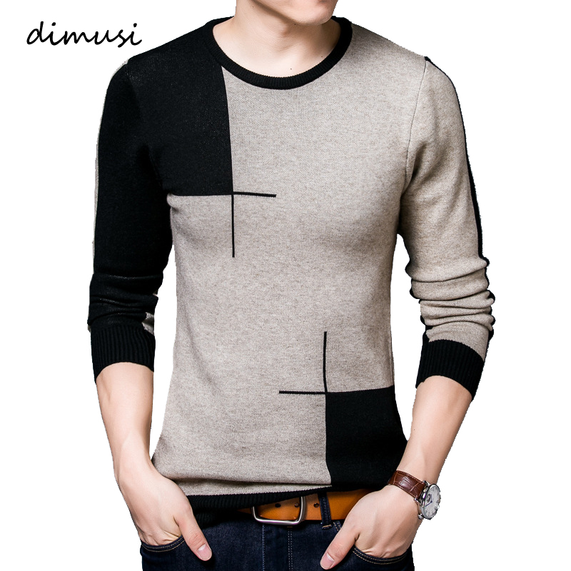 DIMUSI Autumn Winter Men's Sweater Casual Mens Turtleneck Breathable Sweater Man Slim Fit Brand Knitted Pullovers Clothing,TA318