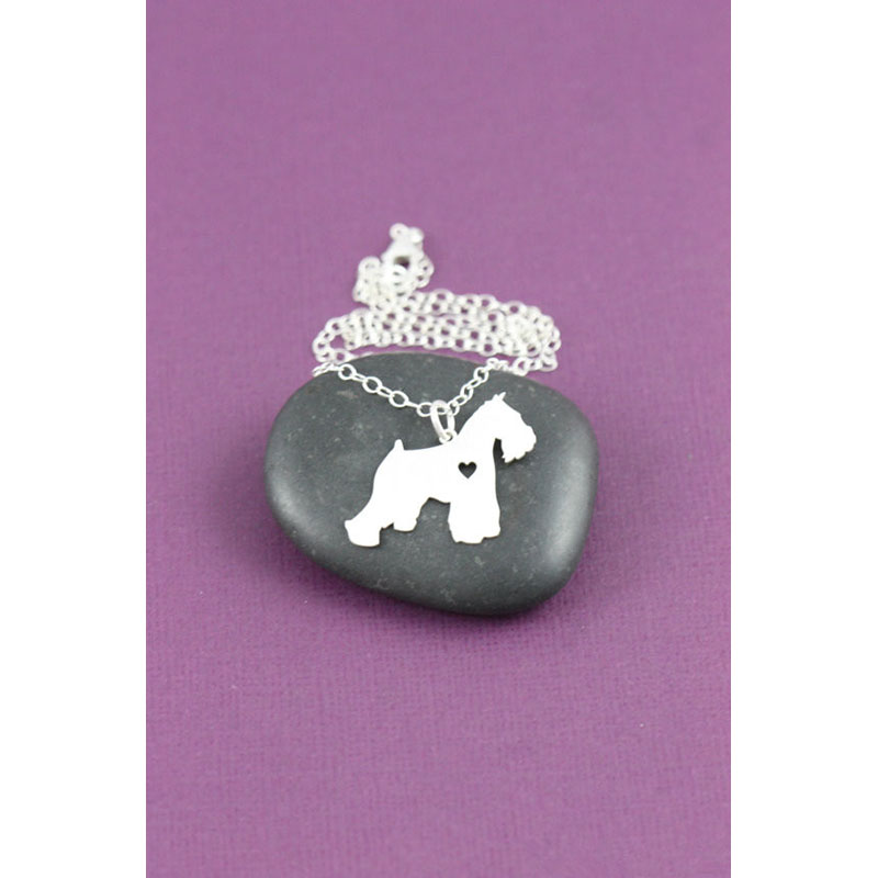 1pc Schnauzer Necklace Dog Pendant Pet Jewelry Silver Charm Christmas Gifts Dog Memorial Gift Family Pet New Puppy Dog lovers