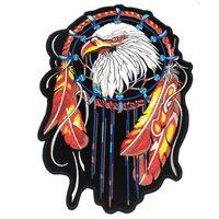 1 Stks/partij Grote Borduurwerk Patches voor Jacket Terug Motorfiets Biker Indische Eagle Voor Kleding Jeans Decoratie 30*21 CM