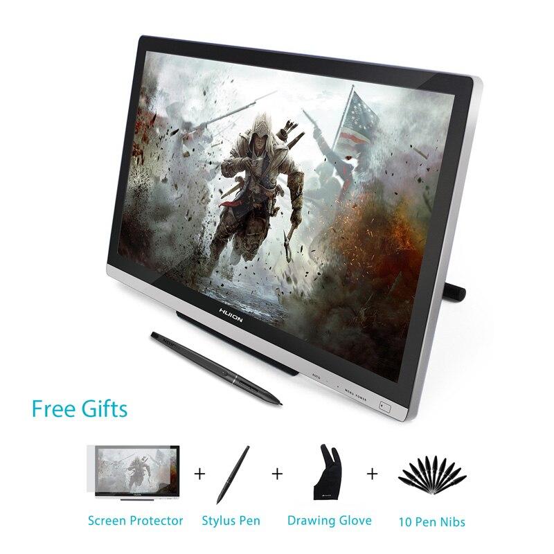 HUION GT-220 V2 21.5 pouce Stylo Affichage Numérique Graphique Dessin Tablet Moniteur IPS HD Stylo Tablette Moniteur 8192 Niveaux avec cadeaux