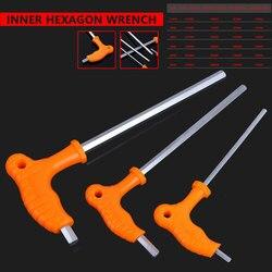 Hand Werkzeug 2,5/3/4/5/6/8mm High-carbon Stahl Innere Hexagon schlüssel T Griff allen Hex Schlüssel Schlüssel-schlüssel