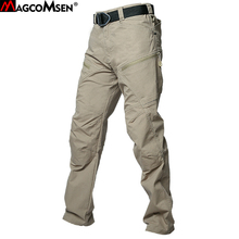 MAGCOMSEN Summer Tactical Pants Men Military Style Cargo Pants Multi Pockets Special Performance Combat Security Trousers